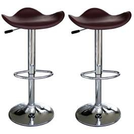 Temp Kitchen Bar Stool Stylish Brown Padded Seat height Adjustable