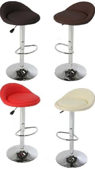 Tempos Padded Stool Chrome and Faux Leather Various Colours