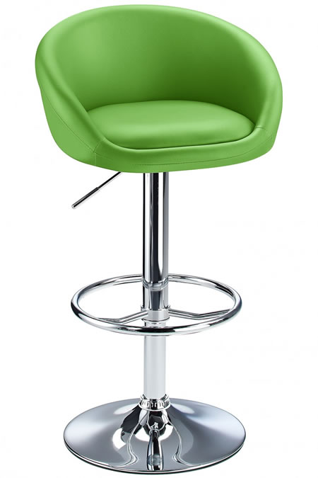 Tuscany Green Padded Kitchen Adjustable Bar Stool
