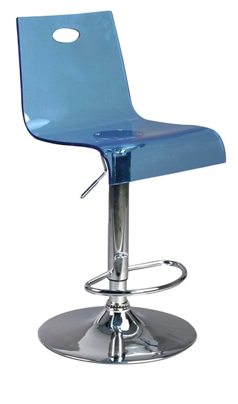 Trayon Translucent Perspex Kitchen  Bar Stool - Blue