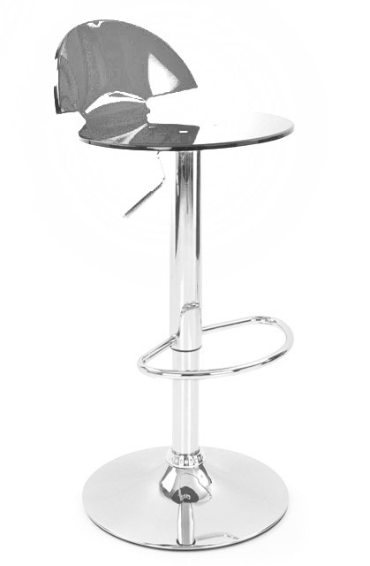 Tapoy Translucent Kitchen Bar Stool - Smoke