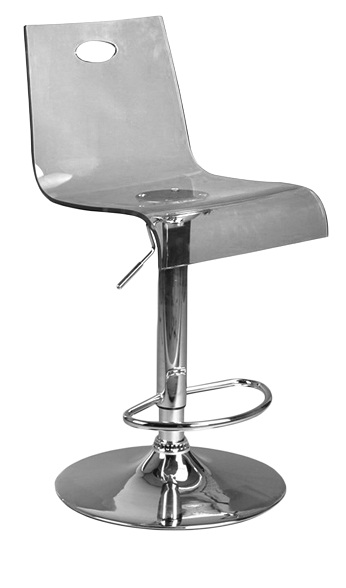 Trayon Translucent Bar Stool - Smoke