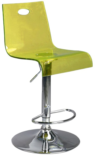 Trayon Translucent Kitchen Bar Stool  Florescent Yellow