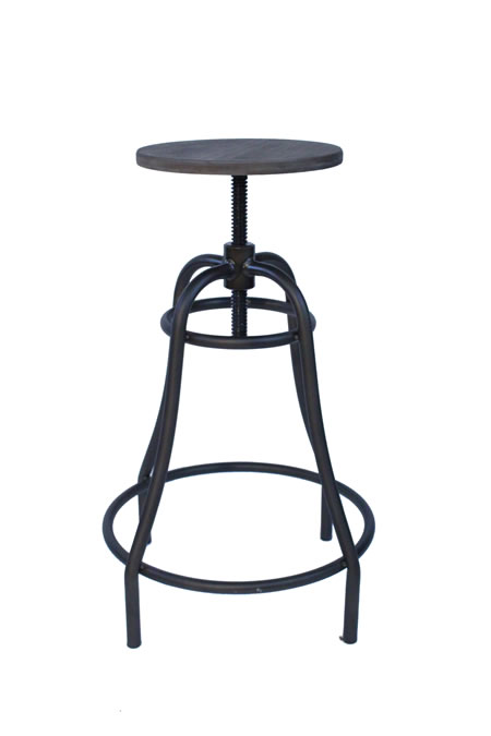 Temzine Kitchen Bar Stool Retro Vintage Rustic Industrial Stool