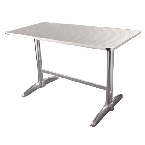 boley large oblong aluminium outdoor table