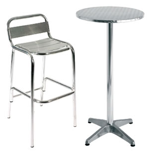 ULT Aluminium Table and Stool Indoor and Outdoor Garden Use