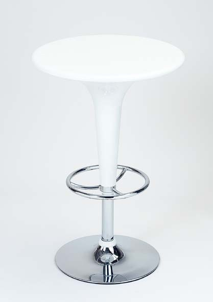 White Bar Table - Adjustable