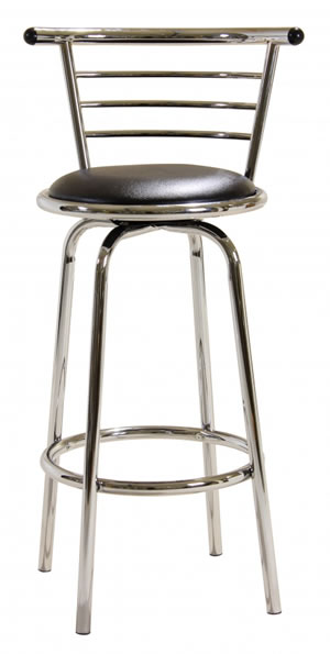 chelsea kitchen bar stool wide back swivel stool padded seat chrome frame