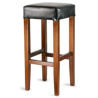 Flair Wooden Fixed Height Bar Stool with padded seat