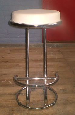 White Cream Kitchen Breakfast Bar Stools Chrome