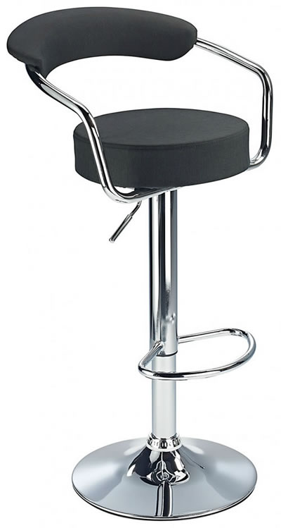 Pinnacle Fabric Seat Padded Kitchen Breakfast Bar Stool Height Adjustable Arms And Back 3 Colours