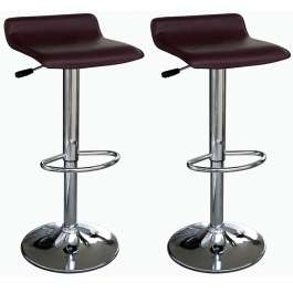 Zest Brown Padded Seat Bar Stool Height Adjustable Stylish and Modern