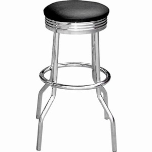 phoenix chrome retro kitchen bar stool padded seat chrome frame